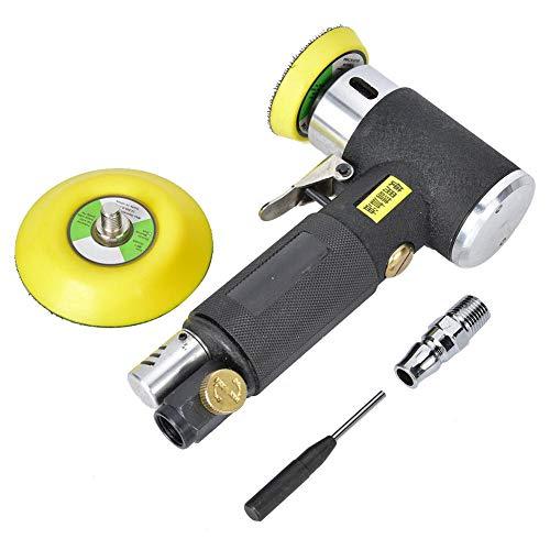 Pulidora orbital, lijadora neumática de aleación, mini lijadora de aire orbital, con método de rectificado rotativo doble, para eliminar juntas de soldadura y manchas de óxido