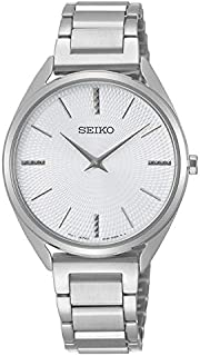 Seiko Womens Quartz Watch, Analog Display and Stainless Steel Strap SWR031P1