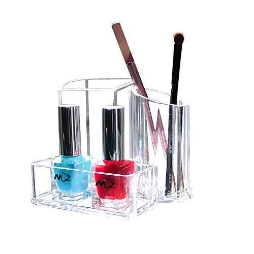 Organisateur de Maquillage Transparent Acrylique Rouge À Lèvres & Pinceau Support De Stockage Présentoir Support Cosmétique Support de Rack Organisateur Maquillage Boîte De Rangement Cosmétique pour C
