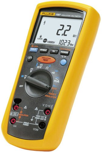 Fluke 1587 Insulation Multimeter, LCD Display, 2 Gigaohms Insulation...
