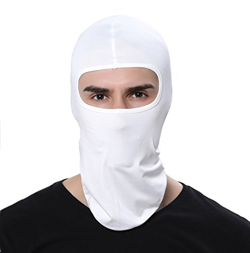 Women Men Thermal Swat Ski Winter Balaclava Hood Stopper Face Mask for Skullies Beanies Outdoor Sports Windproof Hat (White)
