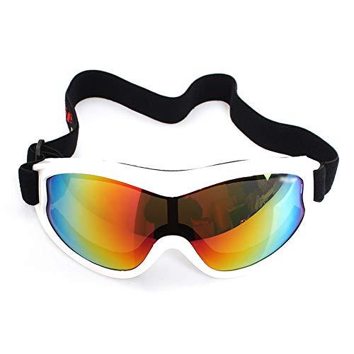 Kinder Bunte Ski Skibrille Sports Snowboarding mit Kasten for Kinder Jungen Mädchen Alter Anti-Fog-windundurchlässiges Staubdichtes UV400 Schutz (Color : White)