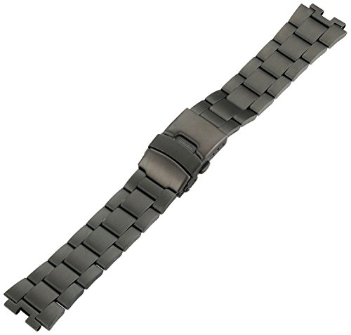 Kreisler BLM22001 22mm Tech Smart Band Stainless Steel Black Watch Bracelet