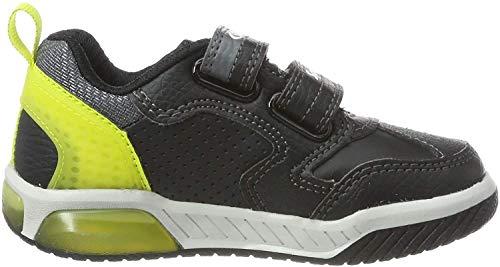 Geox Jungen J INEK Boy D Sneaker, Schwarz (Black/Lime C0802), 33 EU