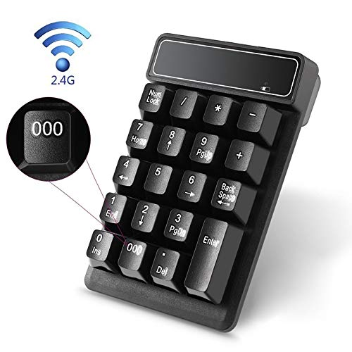 YOUZHA toetsenbord mini financiële toetsenbord computer zonder kabels van het numerieke toetsenbord Bluetooth 2.4G zwart.