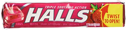 Halls Strawberry, 20-Count Packages
