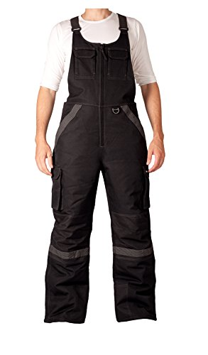 Arctix Men's Tundra Ballistic Bib Overalls With Added Visibility, Black, Small