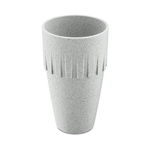 Koziol Becher Latte Connect, Kaffeebecher, Tasse, Kaffeetasse, Thermoplastischer Kunststoff, Organic Grey, 400 ml, 4081670