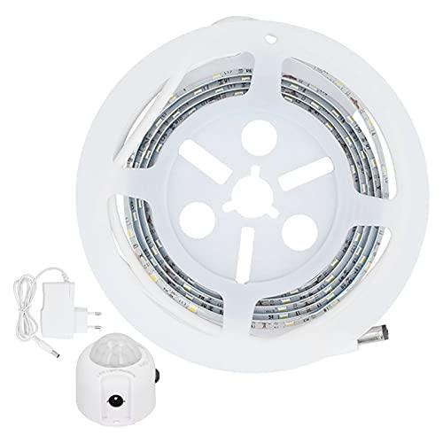 Luce da letto attivata dal movimento, lampada da comodino a striscia LED flessibile a striscia LED UE 110-220V per armadio