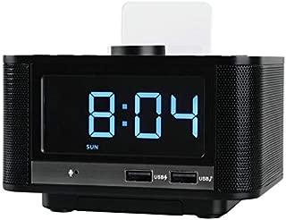 Fmラジオ付きホットワイヤレスBluetooth V5.0目覚まし時計スピーカー、ミニSd、内蔵マイク、33 Ftレンジ、4-8 / Hrs Playtime、2000 Mah B