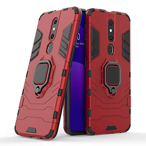 Casodon Back Cover Kickstand View Ring Holder Armor Case for Oppo F11...