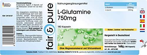 Fair & Pure L-Glutamin 700mg, 180 Kapseln - 3