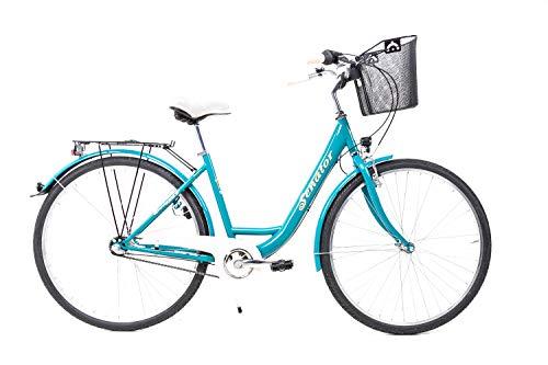 Sprick 28 Zoll Damen Fahrrad City Bike Shimano Nexus 3 Gang Rücktritt mit Korb Petrol