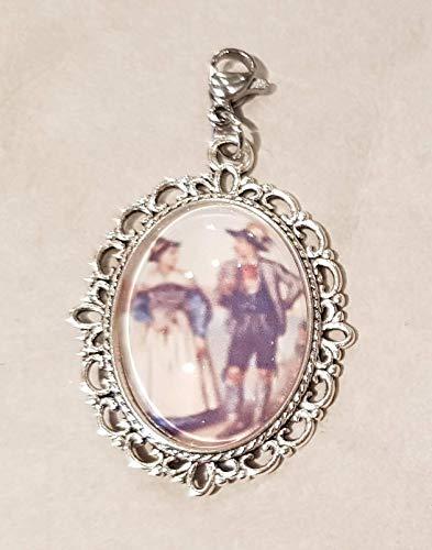 Charm ☘ Trachtenschmuck ☘ Paar in Dirndl und Lederhose Cabochon ☘ Anhänger ☘ Karabiner ☘ Bettelarmband ☘ Schlüsselanhänger ☘ Accessoires ☘ Oktoberfest ☘ Halskette