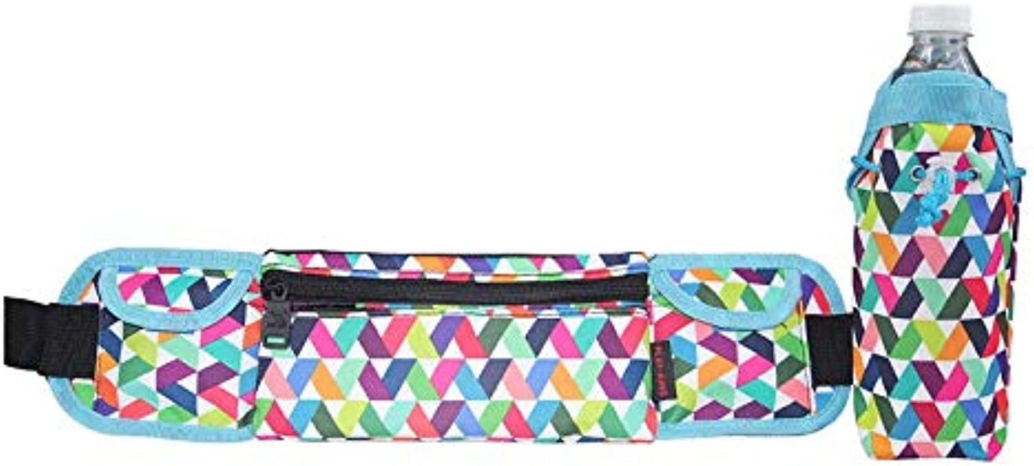 GuoBomatealliance Outdoor Bags Outdoor Bags Playking 1358 MultiFunctional Unisex Running Outdoor Sports Water Bottle Waist Bag (Day Folding Flower) (color   color1)
