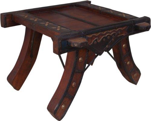 Guru-Shop Salontafel, Salontafel - Slede 3, Bruin, 35x50x50 cm, Salontafels Vloertafels