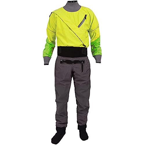Mookta 3 Layer Nylon Diving Drysuit for Men Waterproof Nylon Kayak Dry Suits