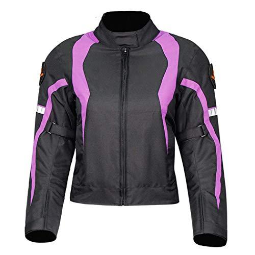 Conjunto de pantalones de chaqueta de motocicleta para mujer, traje de verano con 9 piezas de protección y forro impermeable