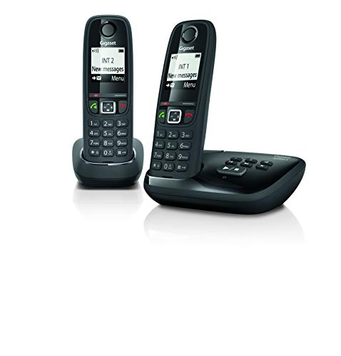 Gigaset AS405A Duo Nederland - Inclusief Antwoordapparaat, L36852-H2521-M101, Zwart, 3,4 x 4,9 x 15,5 cm
