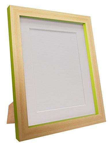 FRAMES VAN POST Magnus fotolijst, gerecycled kunststofbeuken/groen, 30 x 24, afbeeldingsgrootte 24 x 16 inch