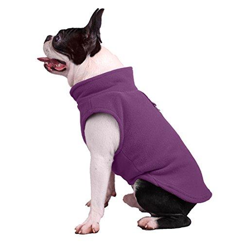 Vest honden flanel hondentuig T-shirt lente herfst dog pullover sweater comfortabel hemd kleding hondenkostuum hondmantel blouse voor kleine middelgrote en grote honden, Large, lila