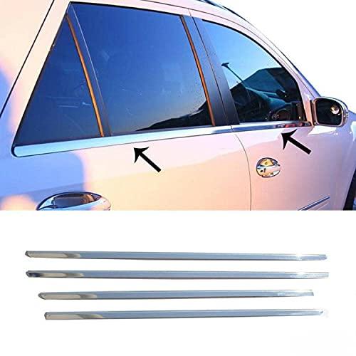 Chrom Fensterleisten Blenden 4tlg aus Edelstahl V2A ML W164