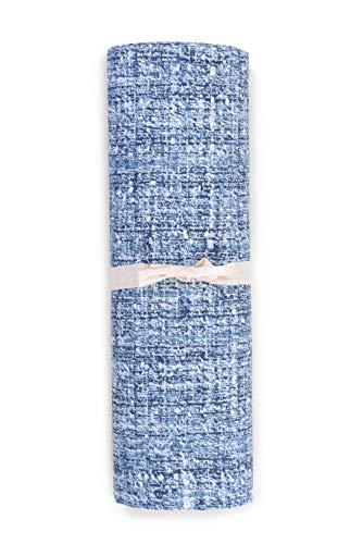 HomeLife - Telo Arredo Copridivano 100% Cotone - 180X270 Made in Italy – Lenzuolo Copritutto Multiuso Tinta Unita Rosa – Granfoulard Copriletto per Letto Singolo - [1 Piazza – Azzurro]