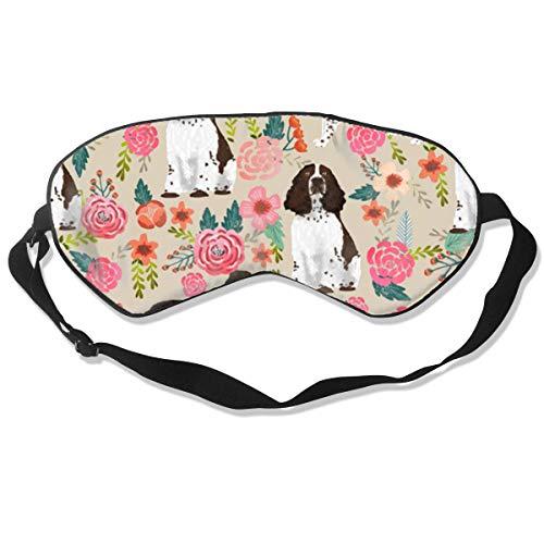 Premium Super Zacht Ademend Oogmasker met Verstelbare Band - Olifant - Licht Blokkerend Slaapmasker voor Reizen, Nap, Yoga, Meditatie Eén maat Engels Springer Spaniel