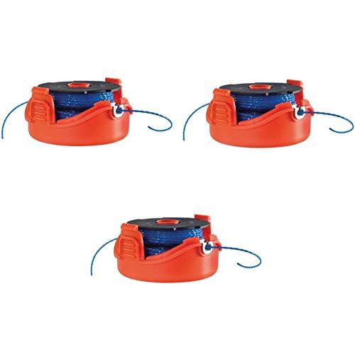 Black+Decker Multipack de 3bobinas Reflex Plus de Doble Hilo 2x 6Metros A6442-XJ