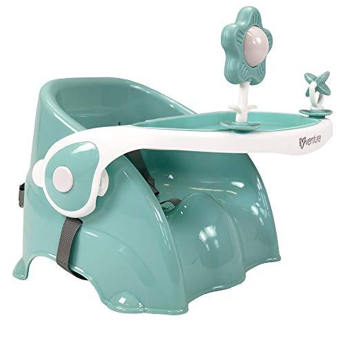 New 2018 Venture QFix Portable Travel High Chair, Travel Booster Baby Seat … (Blau)