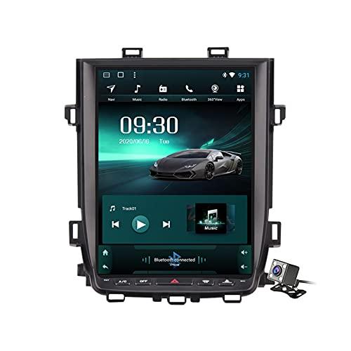 Buladala Android 11 Reproductor de automóvil Multimedia para Toyota Alphard 2010-2014 Pantalla Vertical 9.7' Navegación GPS Soporte FM Am RDS Autoradio Stéreo/Carplay Auto/SWC/Bluetooth,Ts5