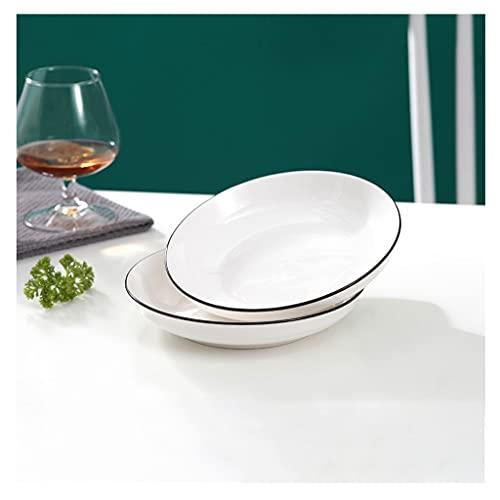 Platos Cena de cena de cerámica Conjunto de 2,7.95 en placas blancas La ensalada Aperitivo Pasta Placas Placas Postres Platos.Microwave Horno y lavavajillas Caja fuerte Vajilla ( Size : 7.28Inch )