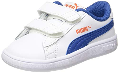 Puma Smash V2 L V Inf, Zapatillas Unisex Niños, Blanco White/Bright...