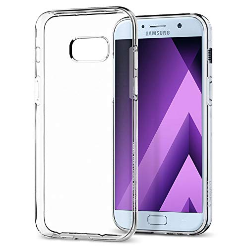 Spigen 573CS21144 Liquid Crystal für Samsung Galaxy A5 2017 Hülle Soft Flex Silikon Transparent Handyhülle TPU Durchsichtige Schutzhülle Case - Crystal Clear