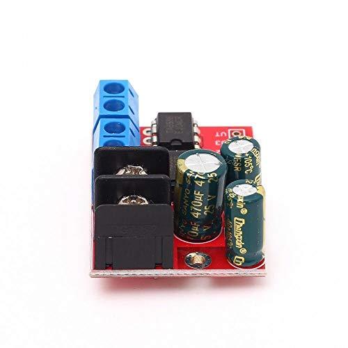 Modulo electronico H puente remoto 3pcs Reglamento de control 5A 3V-14V de doble motor de la CC del módulo de transmisión Tensión inversa velocidad estupenda doble L298N