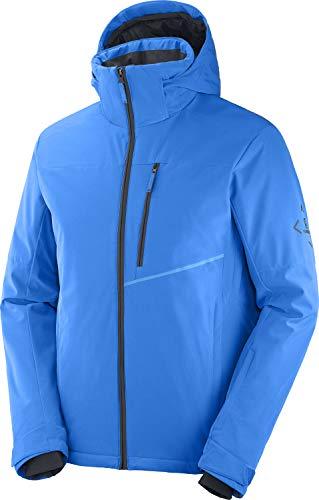 Salomon Herren Ski-Jacke, BLAST JKT M, Polyester/Elasthan/Polyamid, Blau (Indigo Bunting), Größe: L, LC1401200
