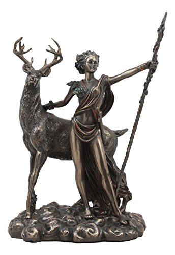 Ebros Griechisch Römischen Göttin der Jagd Moon und Natur Diana mit Hirsch Statue Artemis die Huntress Skulptur 29,2cm H