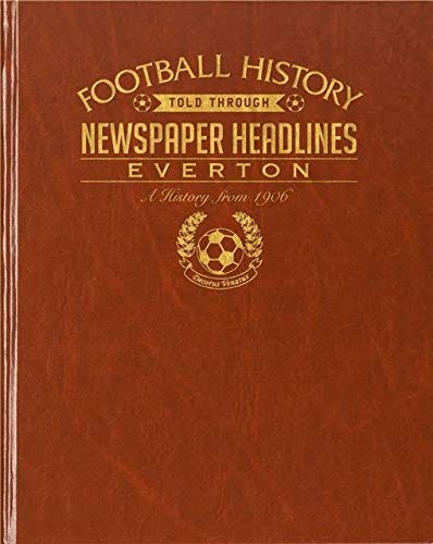 Signature gifts Premium Personalised Football Newspaper Book - Everton