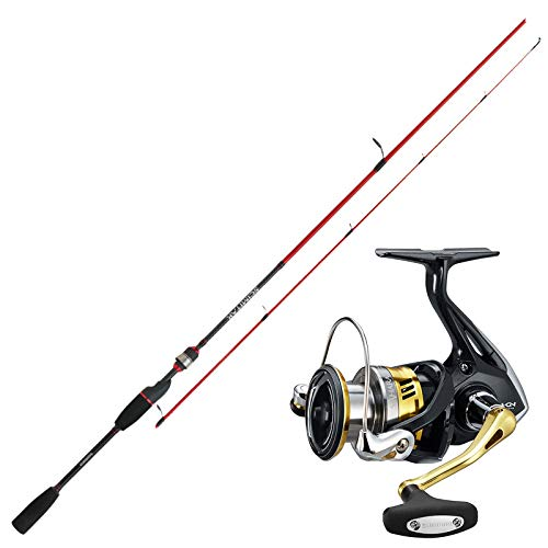 SHIMANO Angelset Hecht Angeln Rute Rolle - Spinnangeln Combo No2