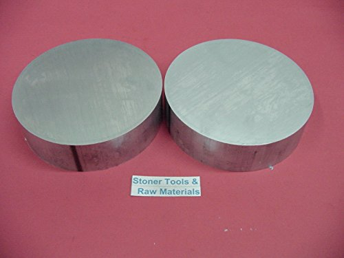"""2 Pieces 6"""" ALUMINUM 6061 ROUND ROD 3/4"""" LONG T6511 6"""" OD Solid Lathe Bar Stock"""