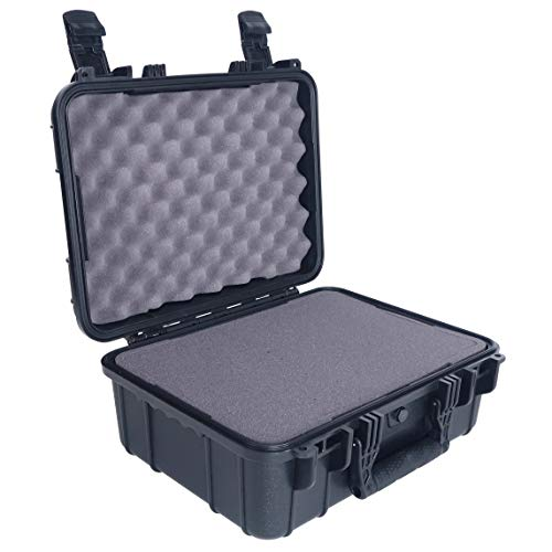 Condition 1 16 Medium Waterproof Protective Hard Case with Foam, Black - 16 x 13 x 7 #179 Watertight IP67 Dust Proof and Shock Proof TSA Approved Portable Carrier