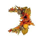 YANL Girasoles Artificiales Grandes 35cm Falsos Flores Decoracion con Forma de Luna para Casa de Boda Decoración de Fiesta de Jardín