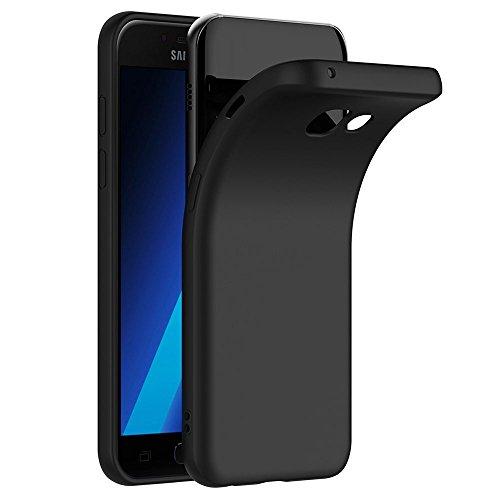 COPHONE Funda Negro Samsung Galaxy A5 2017 A520, Negro Silicona Fundas para...