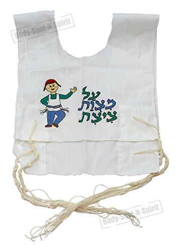 Koscher jüdisches Geschenk für Jungen, Tallit Baumwolle, Tzitzit, Katan Quasten