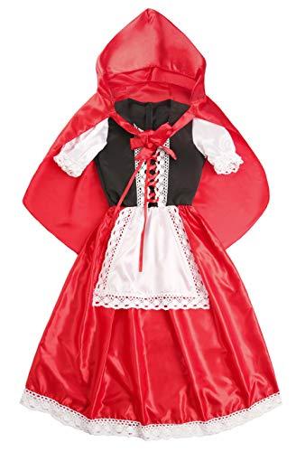 Seawhisper Rotkäppchen Kostüm Damen Prinzessin Karnevalskostüm Faschingskostüme Karneval Halloween Umhang Wolf