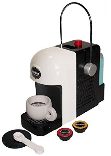 Tanner 0994.1Máquina de café Lavazza, madera original con funciones de juego realistas, color: blanco