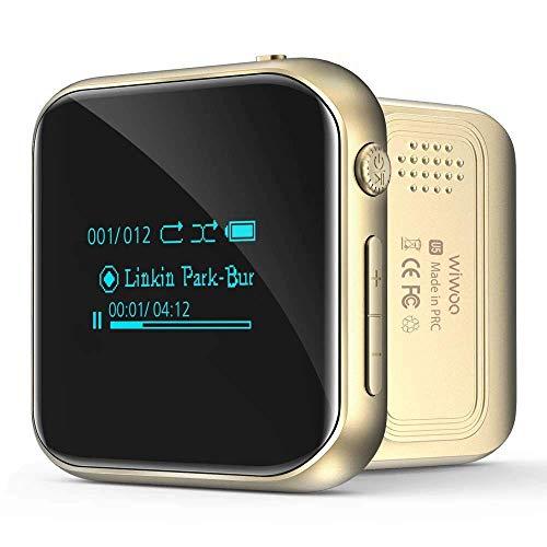 MP3 Player, Mini Bluetooth Sport MP3 Player mit Clip FM Radio Kopfhörern Diktiergerät, HiFi Verlustfrei Musik Player Speichererweiterbar bis zu 128 GB