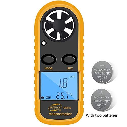 Digital Anemometer Barometer AP-007WM Handheld Anemometer Altitude Wind Speed Meter for Wind Speed//Temperature with Wind Chill /& Relative Humidity Barometric Pressure Measure for HVAC CFM Shooting