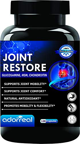 Adorreal Joint Restore Glucosamine Chondroitin & MSM for Cartilage Support Extra Strength, 120 Capsules