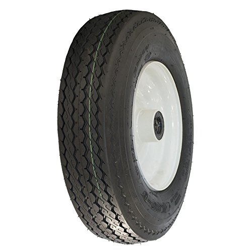 MARASTAR 80151-LS 4.80-8 LRB Trailer Log Splitter Replacement TIRE Assembly, 1 Pack
